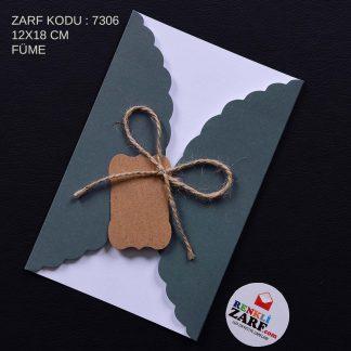 12x18 cm. Hasır İpli Davetiye Zarfı – 100 Adet (7306)